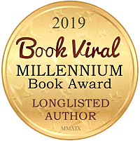 2019 Millennium Book Award Long Listed Author small Medallion